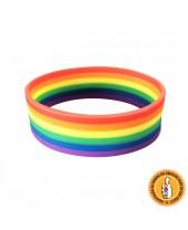 Pulseira LGBT Arco-Íris Silicone