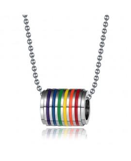 Colar LGBT Arco-Íris Anilha