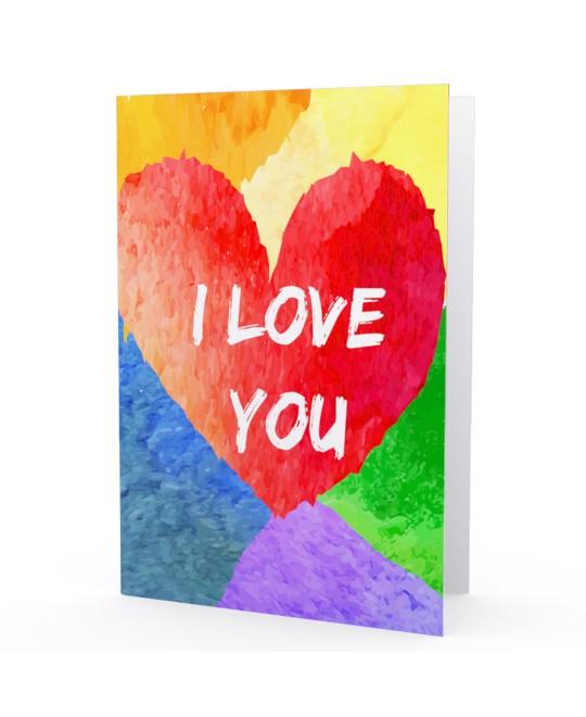 Cartão LGBT I Love You