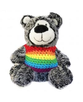 Ursinho Teddy Bear Arco-Íris Preto