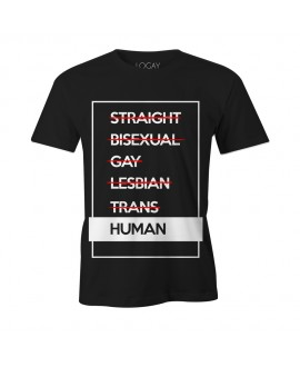 Camiseta LGBT Logay Human Preta