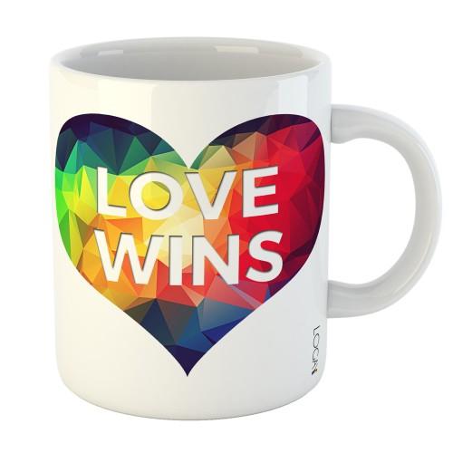Caneca LGBT Love Wins