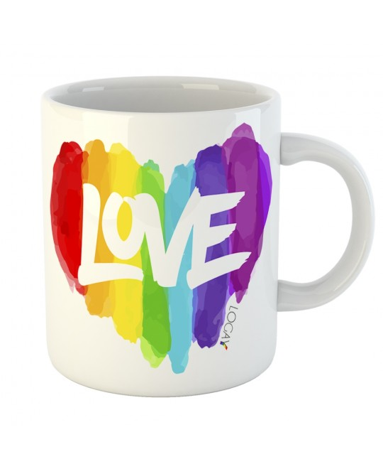 Caneca LGBT Love Aquarela