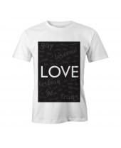 Camiseta LGBT Logay Love Words
