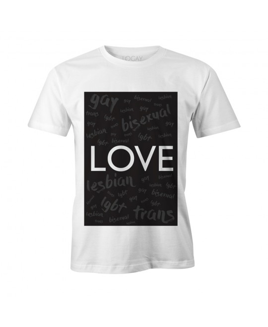 Camiseta LGBT Logay Love Words