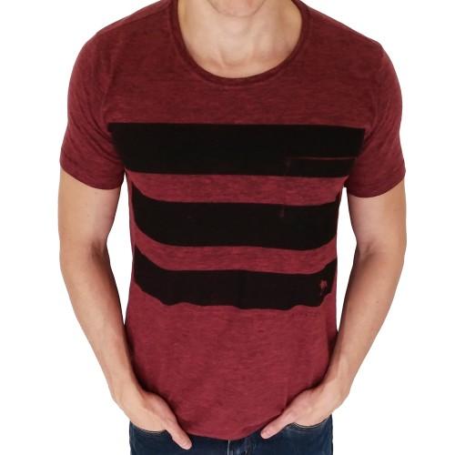 Camiseta Acostamento Três Faixas Bordô