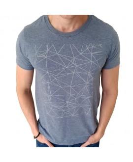 Camiseta Zune Geometric Azul