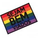 Tapete Capacho LGBT Sejam Bem Viados
