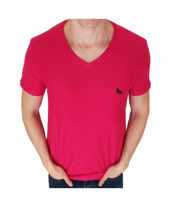 Camiseta Acostamento Básica Gola V