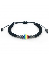 Pulseira LGBT Berloque Arco-Íris