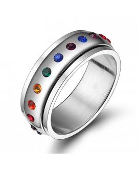 Anel LGBT Pedras Arco-Íris