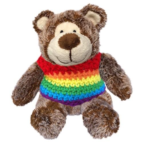 Ursinho Teddy Bear Arco-Íris Marrom