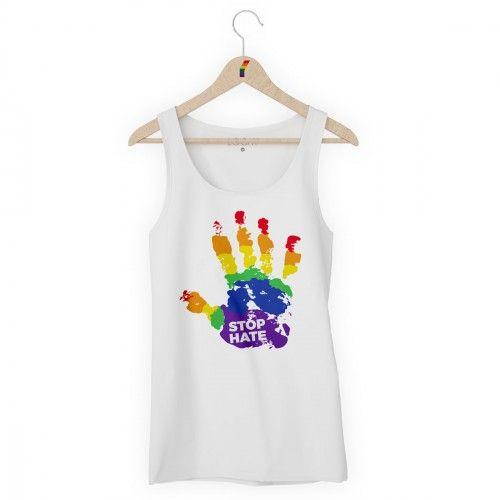 Camiseta Regata LGBT Logay Stop Hate