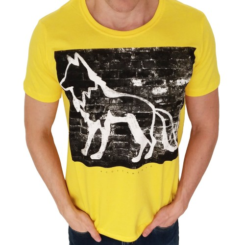 Camiseta Acostamento Wall Amarela