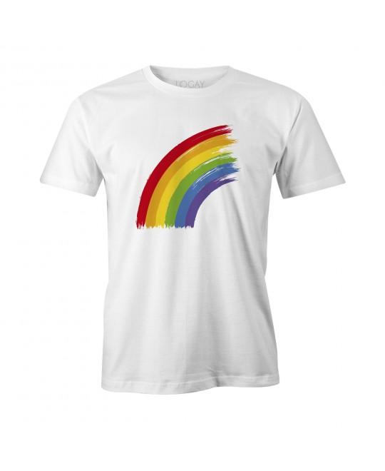 Camiseta LGBT Logay Arco-Íris Branca