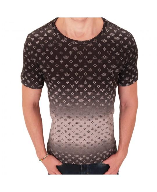 Camiseta Martt Geometric Preta