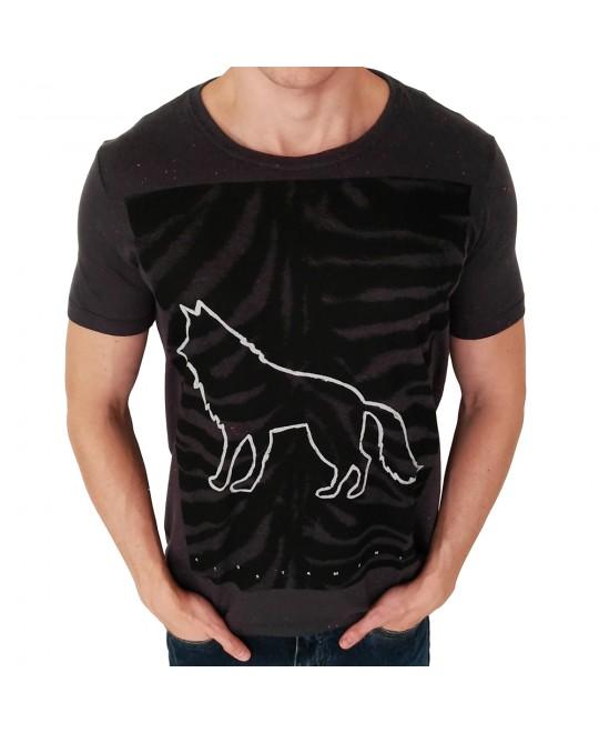 Camiseta Acostamento Zebra Chumbo