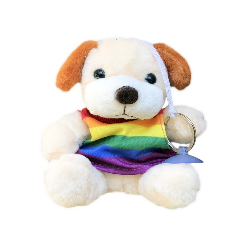 Cachorro Pelúcia Arco-Íris