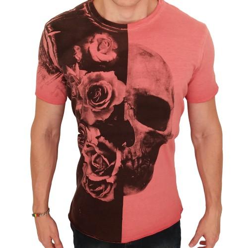 Camiseta Biotwo Flowers and Skull