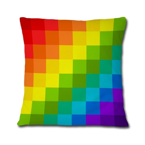 Almofada LGBT Arco-Íris Pixel