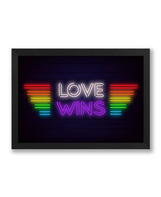 Quadro LGBT Love Wins Neon