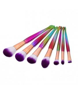 Kit Pincéis Maquiagem Rainbow