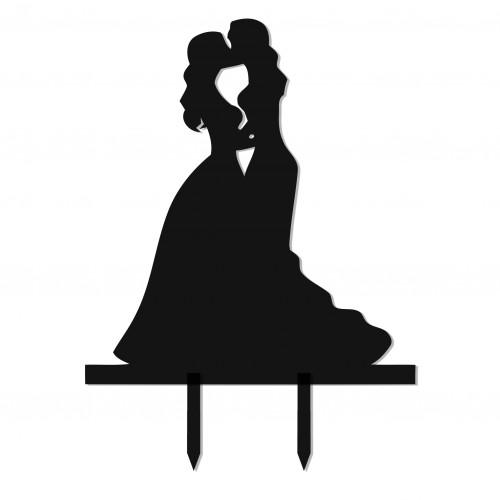 Noivinhas Topo de Bolo Casamento Lésbico
