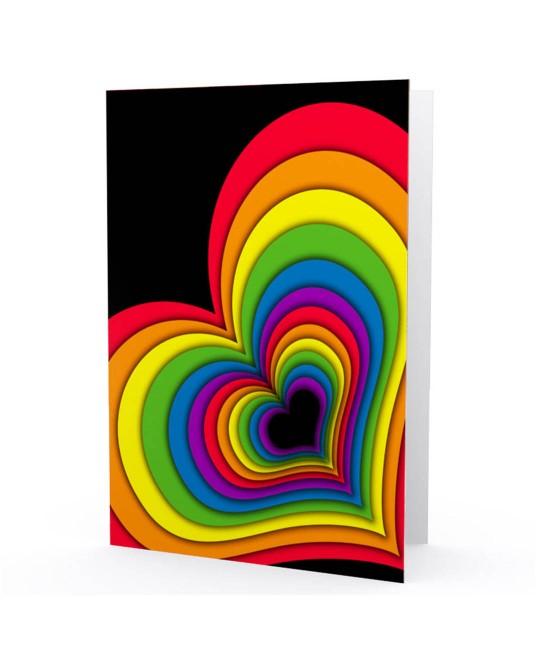 Cartão LGBT Coração