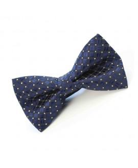 Gravata Borboleta - Azul Detalhes