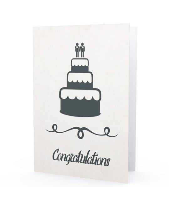 Cartão Casamento Gay Congratulations