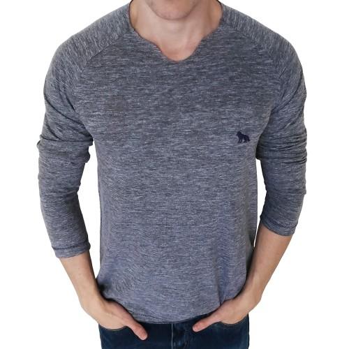 Camiseta Acostamento Manga Longa Cinza