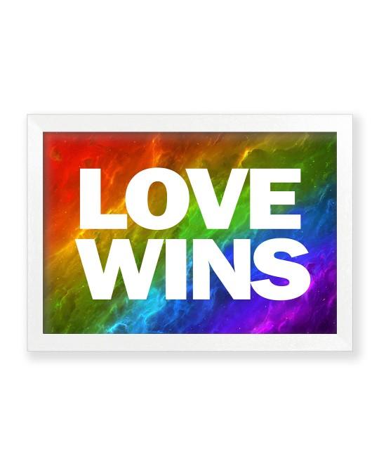 Quadro Galáxia Love Wins