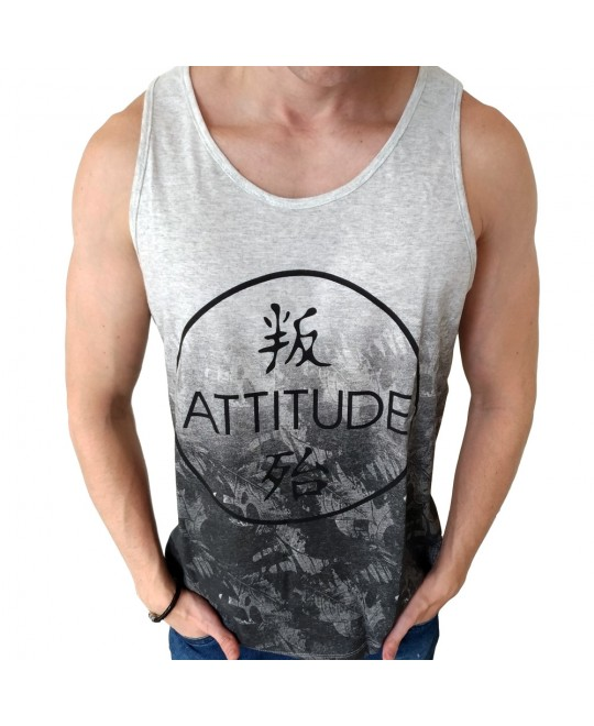Camiseta Regata Chassi Attitude Mescla
